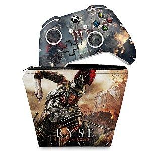 KIT Capa Case e Skin Xbox One Slim X Controle - Ryse