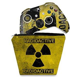 KIT Capa Case e Skin Xbox One Slim X Controle - Radioativo
