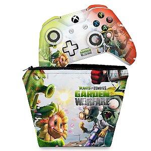 KIT Capa Case e Skin Xbox One Slim X Controle - Plants Vs Zombies Garden Warfare