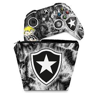 KIT Capa Case e Skin Xbox One Slim X Controle - Botafogo