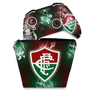 KIT Capa Case e Skin Xbox One Slim X Controle - Fluminense