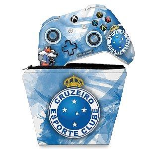KIT Capa Case e Skin Xbox One Slim X Controle - Cruzeiro