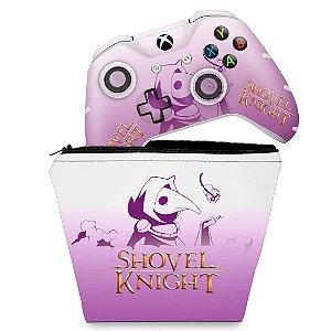 KIT Capa Case e Skin Xbox One Slim X Controle - Shovel Knight