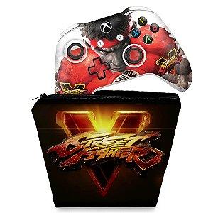 KIT Capa Case e Skin Xbox One Slim X Controle - Street Fighter V