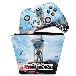 KIT Capa Case e Skin Xbox One Slim X Controle - Star Wars - Battlefront