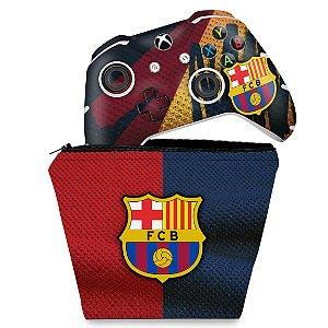 KIT Capa Case e Skin Xbox One Slim X Controle - Barcelona