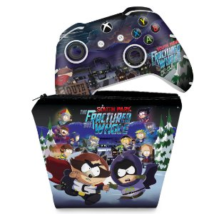 KIT Capa Case e Skin Xbox One Slim X Controle - South Park: The Fractured But Whole