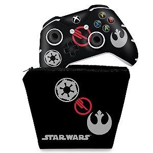 KIT Capa Case e Skin Xbox One Slim X Controle - Star Wars Battlefront 2 Edition