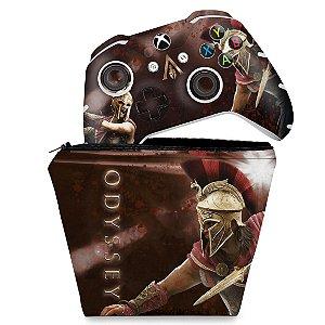 KIT Capa Case e Skin Xbox One Slim X Controle - Assassins Creed Odyssey
