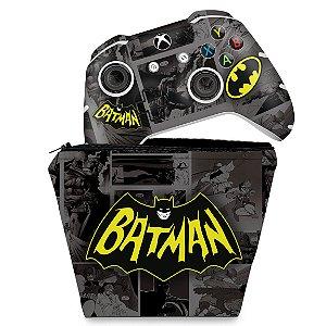 KIT Capa Case e Skin Xbox One Slim X Controle - Batman Comics