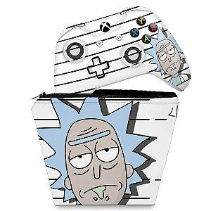 KIT Capa Case e Skin Xbox One Slim X Controle - Rick Rick and Morty