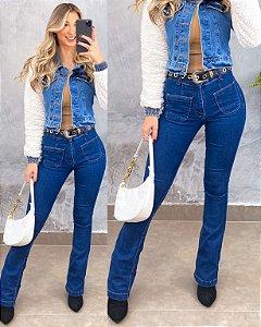 Calça Flare Jeans Lycra 141