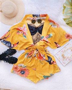 Conjunto Kimono Girassol