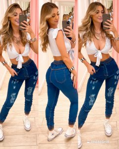 Calça Jeans Jogger