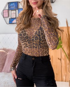 Body de tule animal print