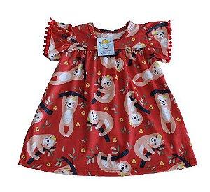 Vestido Infantil Preguiçinha - Abrange