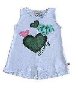 Camiseta Regata Branca Infantil - Abrange Tamanho 3
