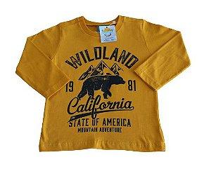 camiseta manga longa wildland california