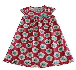 vestido floral elian rosa tamanho 3