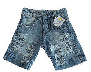 short esportivo jeans masculino mundo kids