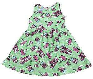 vestido abrange unicórnio tamanho 4