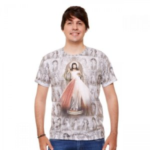 Camisa Masculina Jesus Misericordioso (disponível GG)