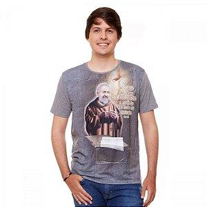 Camisa Masculina estampa Padre Pio