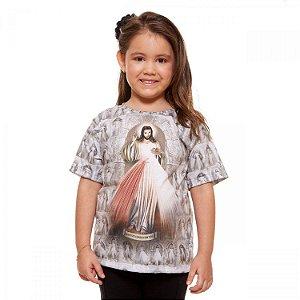 Camisa Infantil Jesus Misericordioso (disponível 4, 6, 8 e 10)