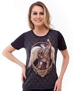 Camisa Feminina São Miguel Arcanjo (disponível P, M, G e GG)