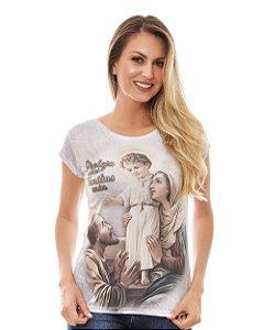 Camisa Baby Look Sagrada Família (disponível P e G)