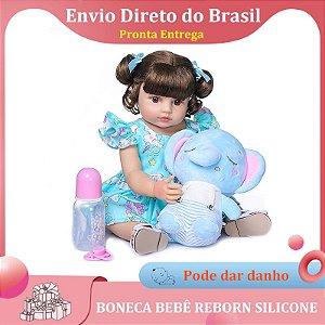 55cm reborn bebê boneca menina de corpo inteiro silicone realista real toque macio.