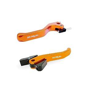 Par De Manetes Easy Brake Easy Clutch Laranja Bms Ktm - 48149 / 48163