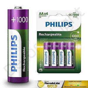8 Pilhas AA Recarregaveis Philips L6B4RTU10/97 HR6 MIGNON 1.2V