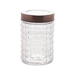 Pote vidro borossilicato com tampa cobre 1,2Lt