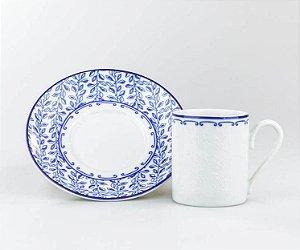 Xícara em Porcelana para Café com Pires Coimbra 80ml Schmidt