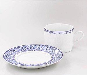 Xícara em Porcelana  Chá com Pires Coimbra  Schmidt
