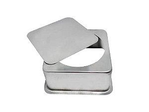 Forma para Bolo Quadrada em Alumínio com Fundo Falso 20cm Caparroz