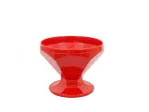Taça Caribe em Polipropileno Vermelho 150ml Vemplast