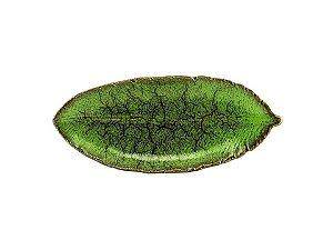 Folha em Cerâmica Verde  27cm Rojemac