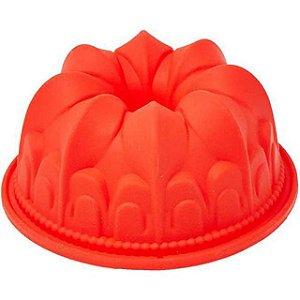 Forma para confeitaria Silicone Vermelho 10,5cm