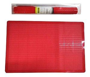 Folha Silicone Vermelha Assar 43cm