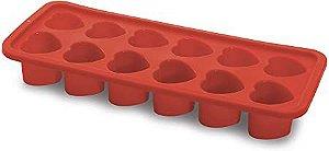 Forma de Silicone Coração Gelo 26,3cm