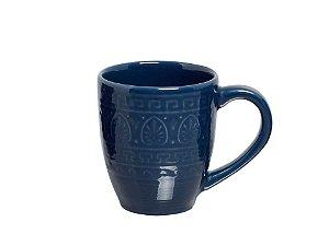 Caneca de Cerâmica Greek Azul Navy 300ml