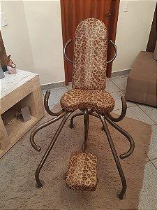 Cadeira Estampa Onça