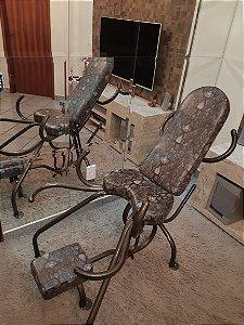 Cadeira Estampa Marrom