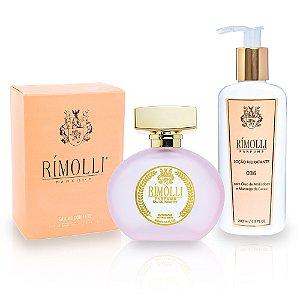 Perfume + Hidratante Rímolli 036 Familia Olfativa 212 vip Rose
