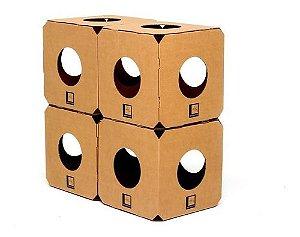 Kit Labirinto 4 Cubos Brinquedo Gato Montavel