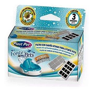 Filtro Refil Carvão Ativado Para Fonte Plast Pet 03 Unidades