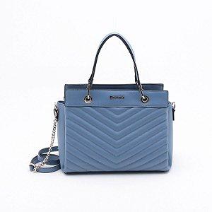 Bolsa Dumond Matelassê Azul Pacífico
