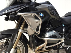 PROTETOR MOTOR INFERIOR + CARENAGEM SUPERIOR INOX BMW R1200 GS LC